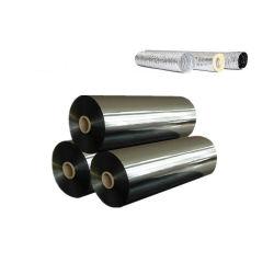 Venta caliente PE metalizado laminados película y papel de aluminio para materiales aislantes