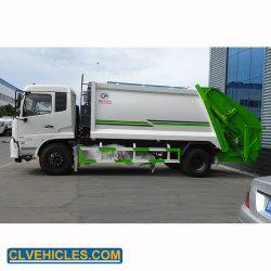 Dongfeng Nouveau fabricant 10m3 Compacteur de refuser la collecte des ordures Appuyez sur le chariot