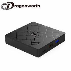 Contenitore elettronico di Android TV Rk3328 4G 32g di Andriod 8.1 TV della vigilanza della casella HK1 casella libera Android massima di film HD della video TV