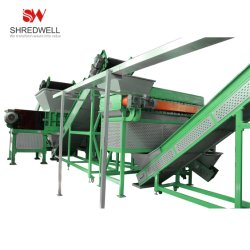 Caoutchouc Shredwell Crumb usine de recyclage des déchets/les pneus usagés