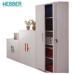 Nuevo diseño de rodillos de PVC de metal armario de puerta de persiana para el uso de oficina