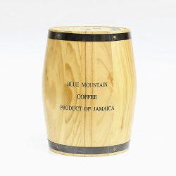 برميل تخزين خشب صلب مصنوع خصيصا طبيعى لقهوة بار كاندى وفول وديكور منزلى