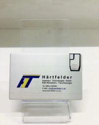 MetallKreditkarte-Flash-Speicher für kundenspezifisches Firmenzeichen