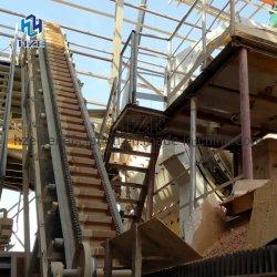 O ouro de equipamentos de mineração de ângulo amplo o transportador de correia