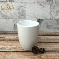 Commerce de gros 3 pouces de plante en pot en céramique plat vitré