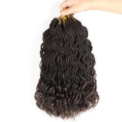 [سلكي] طيقان [أمبر] [كنكلون] جديلة شعر [سنغلس] إلتواء حبل شعر إمتدادات يزركش حبل اصطناعيّة رماديّ [بلوند] لون