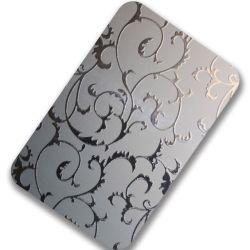 304 feuilles en acier inoxydable décoratifs gravé avec prix d'usine