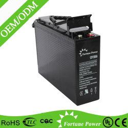 Fabricante de terminales de batería de gel delantero para Telecom FT12-100ah