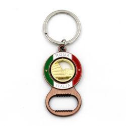 شعار مخصص هدية ترويجية مخصصة Antique Zinc Alloy Metal Beer Beer Bottle مع تذكار keychain Keyring