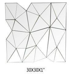 Muur van de spiegel zette het Onregelmatige Eenvoudige Moderne Frame van het Smeedijzer op