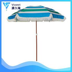 6FT Patio extérieur Parasol Sun abri avec frange Sun Protection UV50+