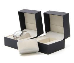 Hoher Grad-Schwarz-Kippen-Typ Pappeinzelner Uhr-Kasten, Geschenk-Uhr-Kasten von China