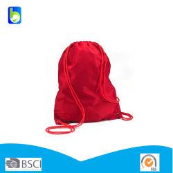 210 d une salle de Gym Sport en nylon polyester sac à dos Sac avec lacet de serrage