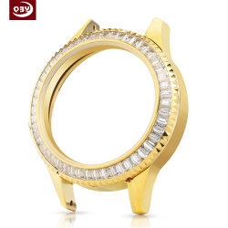 OEM de Zilveren Machinaal bewerkte Delen van uitstekende kwaliteit van de Horlogekast CNC