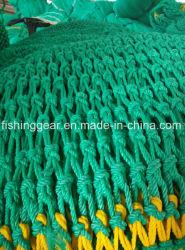 Polyäthylen-verdrehtes Grün-geknotetes oder knotenloses Boad Fischernetz