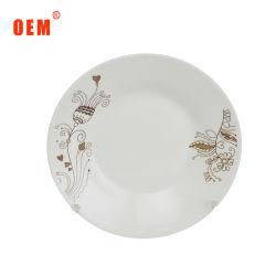Venda por grosso de cor branca restaurante chinês casamentos placas jantar em cerâmica