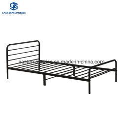 Estrutura de aço dobrável mais barata Kd cama de solteiro