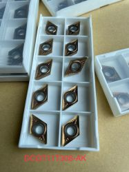 Dcgt CNC 선삭 인서트 Dcgt11t302/Dcgt070202 합금 스테인리스 스틸 부품 처리 초경 선삭 공구