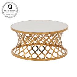 Design italiano mesas de café em mármore branco brilhante para venda