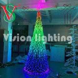 musica esterna RGB della decorazione DMX di motivo di 3D LED che illumina l'albero di Natale gigante