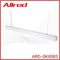 SMT comercial 18W 36W de alta aluminio Lumen LED colgante suspendido Luz lineal