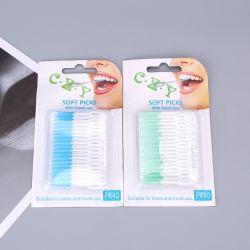O fio dental Goma suave massagem Boca seco com Fio Dental Massagem Palito Limpar mascar chiclete Fio Dental Stick palito
