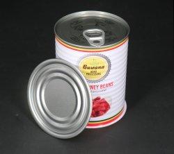 Lack-runde leere Blechdosen für Nahrung mit einfacher geöffneter Kappe