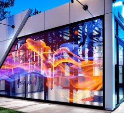 Ultradun, transparant DIP LED-scherm met strook voor Buiten vast