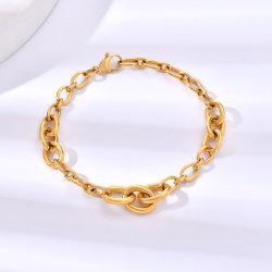 Ювелирные изделия из нержавеющей стали браслет для женщин костюмы мода 18K очарование имитация с золотым покрытием