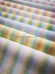 Rainbow refractam a camurça couro de microfibra para sacos de calçados