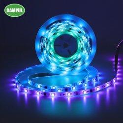 3 in 1 5050 SMD Flexible Smart Music의 핫 세일 크리스마스 장식을 위한 RGB LED 스트립 조명 쫓는 중