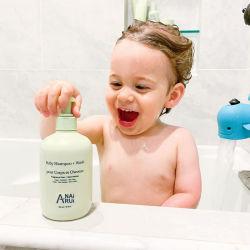 OEM ODM Private Label bebé Cabello Body Wash la humedad natural de las plantas de lavado y champú para bebés