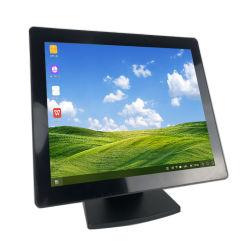 شاشة لمس مقاومة للخدش بمقاس 15 بوصة اقتصادية IP65 لنقاط البيع شاشة عرض LCD تعمل باللمس DC بجهد 12 فولت بطرف النظام