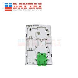 Distribuição de fibra óptica 2 FTTH Núcleo Caixa de Cabo de fibra óptica da tomada de parede