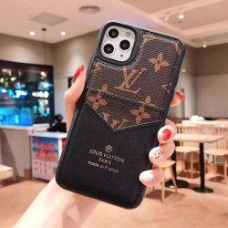7/8/7P/8p/XS/Xr/ Xsmax/11/11/11 PRO MAX PRO Moda LV el caso del teléfono móvil con tarjeta titular para el iPhone 12