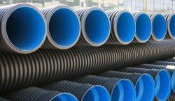 Doble pared corrugado plástico Tubo de PVC de drenaje tubo eléctrico de 300 mm.