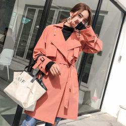 Corea última moda mujer Blazers abrigo trinchera cubra siempre mujer Trench Coat