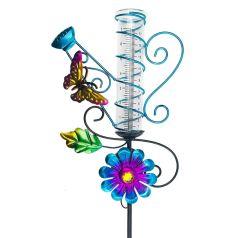 Водонепроницаемый чехол для установки вне помещений солнечной металлические бабочки поворотного Цветочный дизайн дождь канал по манометру патио лужайке