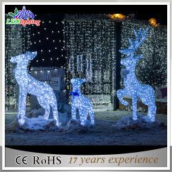 Décoration de Noël de plein air de nouvelle conception 3D'ACRYLIQUE Motif de Rennes