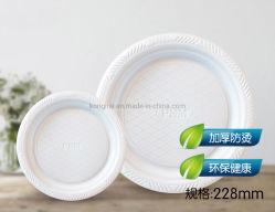 Piatti a gettare biodegradabili dell'amido di granturco ecologico da 8.5 pollici per il piatto Hl-Pl005 della parte