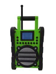 O pico de trabalho ultra resistente ferramenta DAB canteiro DAB Rádio, altifalante estéreo Bluetooth