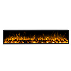 50inch/60inch/72inch/96inch eine Seite Glas Fernbedienung / Mobile APP Control / Wandmontage / Embedded Insert 3D Zerstäuben 30mm Thin Frame Electric Fireplace