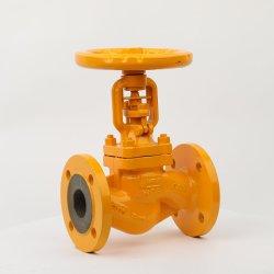 Aço fundido Pn16 Extremidades Flangeada válvula globo de fole para combustível Gás Natural
