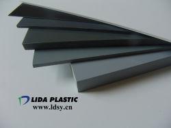 PVC fabricante blanco grisáceo claro Color transparente hoja rígida con palet de madera (espesor 1 mm-60mm)