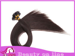 Remi Pre-Bonded Cabello Flat-Tip, Pre servidumbre Keratin Hair Extension