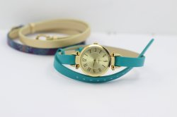PA903-4 vigilanze astute del quarzo di caso delle cinghie del modello tre di colore intercambiabile dell'oro per le donne