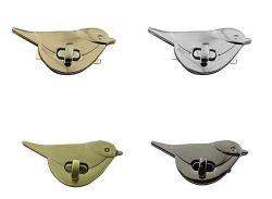 ショルダー・バッグの財布DIYのアクセサリの金属型のレトロの鳥の形の止め金の回転ロックのねじれロック