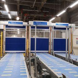 HSD-180 protection PVC à faible entretien joli volet intérieur en PVC Porte à grande vitesse pour atelier de peinture