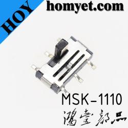 디지털 제품 (MSK-1110-G15-N)를 위한 수직 유형 6pin SMD 활주 스위치