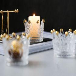 水晶クラウンガラスの蝋燭ホールダー、ガラスロウソク、Candelabrumの蝋燭の棒